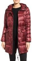 Bernardo Petite Women's Packable Down & Primaloft Fill Hooded Coat