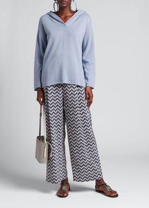 Giorgio Armani Cross-Front Solid Cashmere Pullover Hoodie