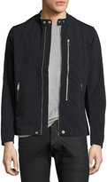 Diesel Nylon Biker Jacket, Black