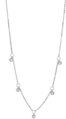 Ron Hami 14K White Gold Bezel Diamond Station Necklace - 0.05 ctw