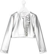 Aletta faux-leather ruffled jacket