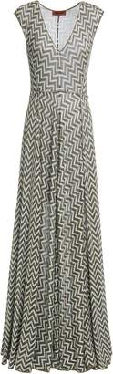 Missoni Metallic Crochet-knit Maxi Dress