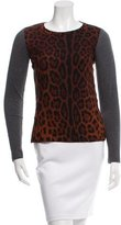 Dolce & Gabbana Leopard Print Crew Neck Top