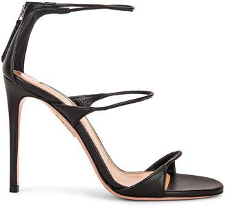 Aquazzura Minute 105 Sandal in Black | FWRD