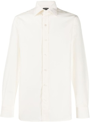 Tom Ford Pointed Collar Regular-Fit Shirt