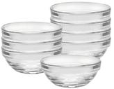Duralex Lys Stackable Clear Bowls (8 PC)