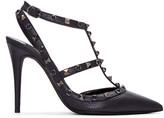 Valentino Black Stone & Rockstud Cage Heels