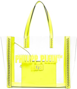 Philipp Plein Transparent Spiked Stud Tote Bag