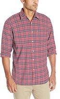 Izod Men's Oxford Plaid Long Sleeve Shirt