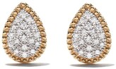 As 29 As29 18kt yellow gold Mye pear beading pave diamond earrings