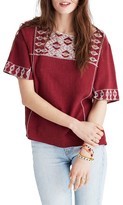 Madewell Women's Embroidered Blouse