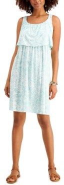 Style&Co. Style & Co Floral-Printed Popover Midi Dress, Created for Macy's