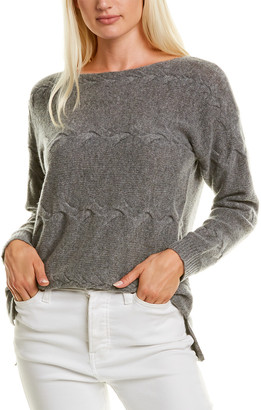 InCashmere Twist Cable Cashmere Sweater