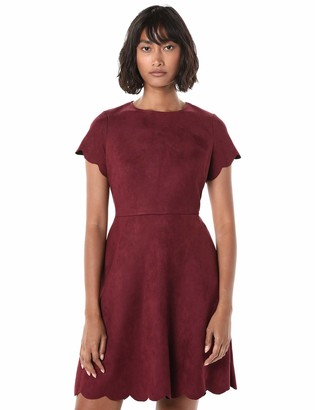 Pappagallo Women's Scallop Fit and Flare Dress