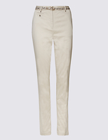 Per Una Belted Tapered leg Chinos