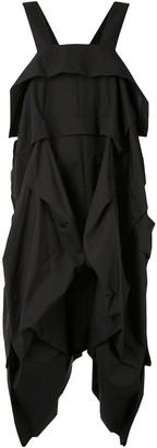 Yohji Yamamoto Draped Parachute Pinafore Dress