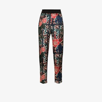 Moncler Tapered Floral Print Trousers