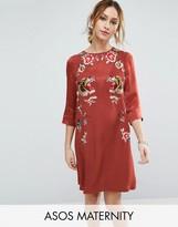 Asos Premium Embroidered Shift Dress