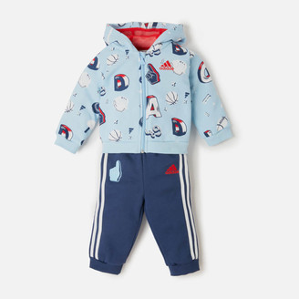 adidas Girls' Infant Full Zip Hoody and Jogger Set