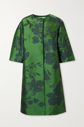 Carolina Herrera Floral-jacquard Coat - Green