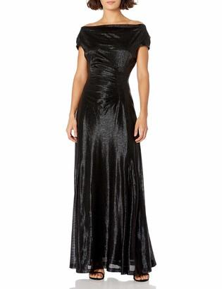 Tahari ASL Women's Petite Cowl Neck Gown