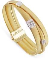 Marco Bicego Masai Triple Band Diamond Bracelet, White