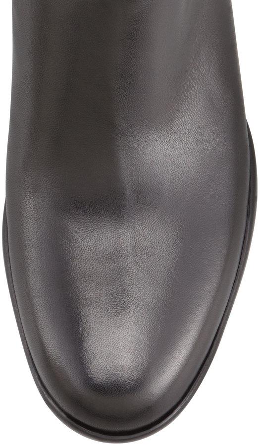 Prada Leather Chunky-Sole Knee Boot