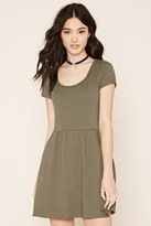 Forever 21 FOREVER 21+ Two-Pocket Fit and Flare Dress