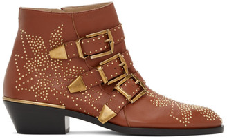 Chloé Brown Susanna Ankle Boots