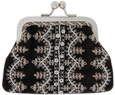 Accessorize Selena Embroidered Clipframe Purse