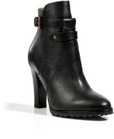 Ralph Lauren Leather Monira Ankle Boots in Black