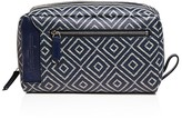 Salvatore Ferragamo Chevron Print Toiletry Bag