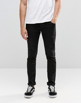 Solid !Solid Black Skinny Fit Jeans with Stretch