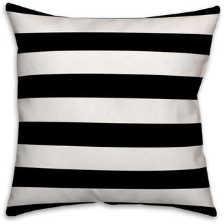 Ddcg Black and White Stripes Spun Poly Pillow, 18x18