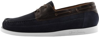 Oliver Sweeney Sweeney London Lufton Boat Shoes Navy