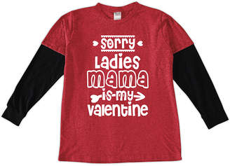 Urban Smalls Boys' Tee Shirts Red/Black - Red & Black 'Mama Is My Valentine' Layered Long-Sleeve Tee - Toddler & Boys