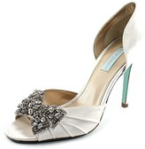 Betsey Johnson Gown Peep-toe Canvas Heels.