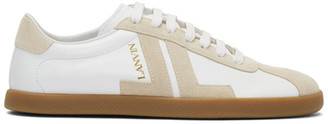 Lanvin White and Beige JL Sneakers