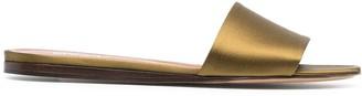 Michel Vivien Coast silk flat sandals