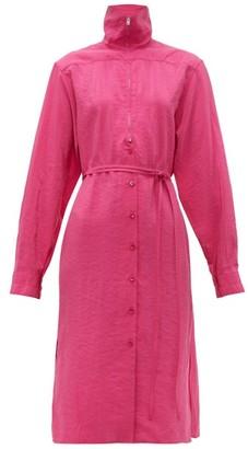 Lemaire Zipped Silk-blend Dress - Womens - Pink