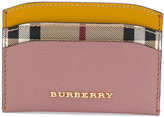 Burberry - check card case