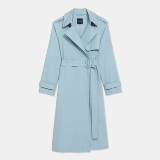 Theory Essential Trench Coat in Cotton-Silk