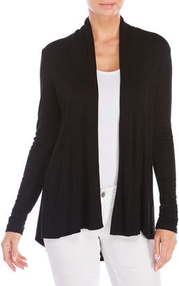 Cable & Gauge Ribbed Open Cardigan