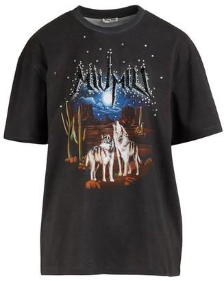 Miu Miu t-shirt with studs