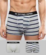 G Star Trunks In 2 Pack With Stripe