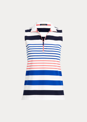 Ralph Lauren Striped Quarter-Zip Golf Polo
