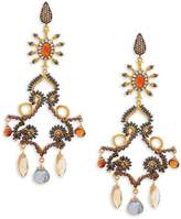 Azaara Women's 22K Dipped Yellow Gold & Multi-Gemstone Drop Earrings