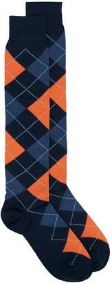 Marcoliani Milano Argyle Print Socks