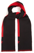 Givenchy Stripe And Star-intarsia Wool Scarf