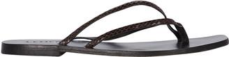 Benni Leather Flip-Flop Sandals
